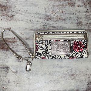 Coach Poppy Floral Graffiti Wristlet Wallet